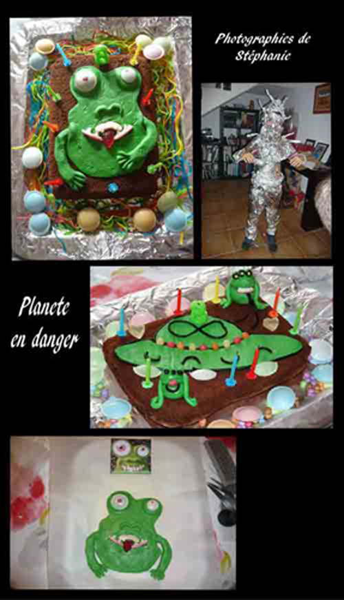 gâteau pour chasse au trésor