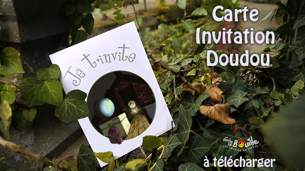 Carte d'invitation Doudou