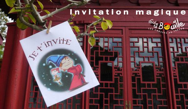 Carte d'invitation fées et sorciers