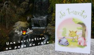 invitation pour les petits enfants