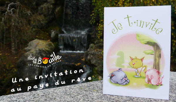 Carte invitation animaux
