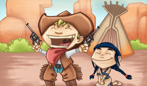 chasse au treésor cowboys et indiens