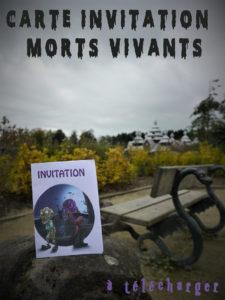 invitation morts halloween