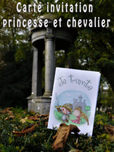 invitation des princes, princesses, chevaliers