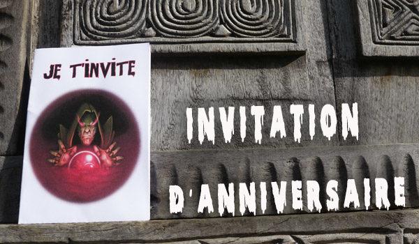 Carte invitation magie noire