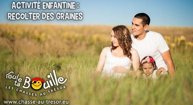 La récolte de graines avec des enfants